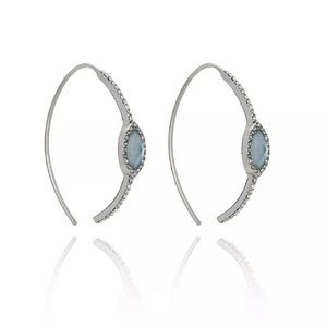 Chloe + Isabel Riverstone Open Hoop Earrings